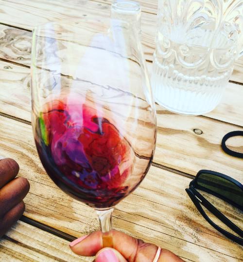 Gerakaris red Blend in glass